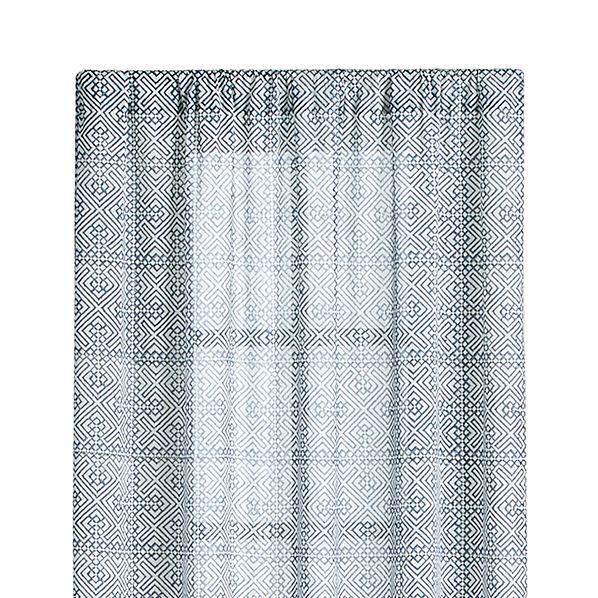 "Easton 48""x96"" Blue Curtain Panel"
