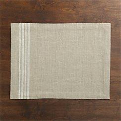 Easton White Stripe Placemat