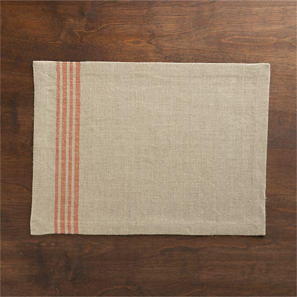 Easton Orange Stripe Placemat