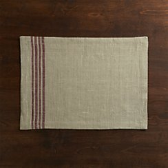 Easton Mulberry Stripe Placemat