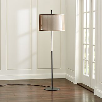 Floor lamps swing arm tripod adjustable crate and barrel for Clare brass floor lamp