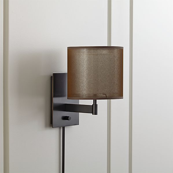 Crate And Barrel Outdoor Wall Decor : Eclipse antiqued bronze wall sconce in sconces crate and