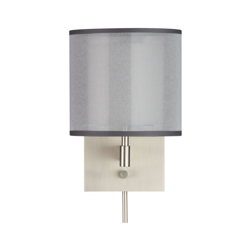 Wall Lamps Crate And Barrel : Eclipse Silver Wall Sconce Crate and Barrel