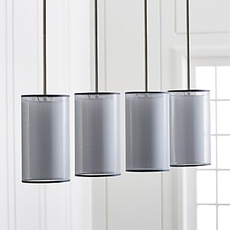 Eclipse Silver Linear Chandelier