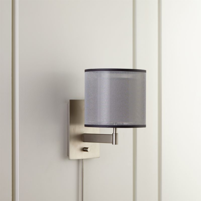 Wall Sconces Crate And Barrel : Eclipse Silver Wall Sconce Crate and Barrel