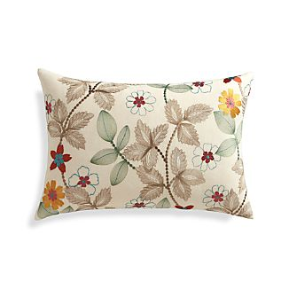 "Eden 22""x15"" Pillow with Feather-Down Insert"