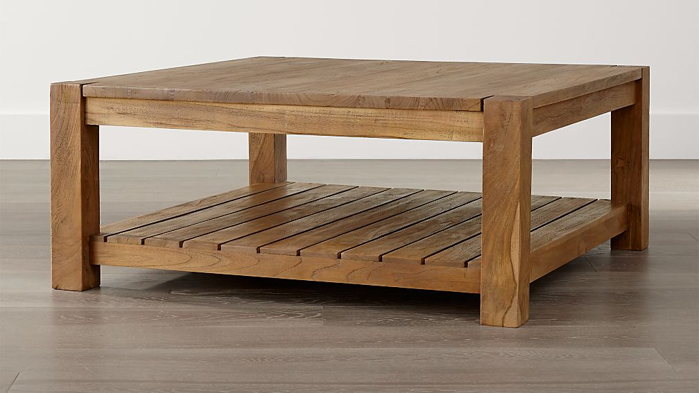Edgewood square coffee table crate and barrel for Coffee table crate and barrel