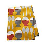 Egg Cups Yellow Dish Towel