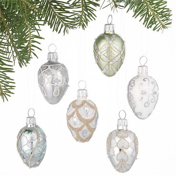Set of 6 Egg Ornaments