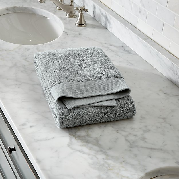 Egyptian Cotton Grey Bath Towel