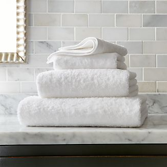 Egyptian Cotton White Bath Towels