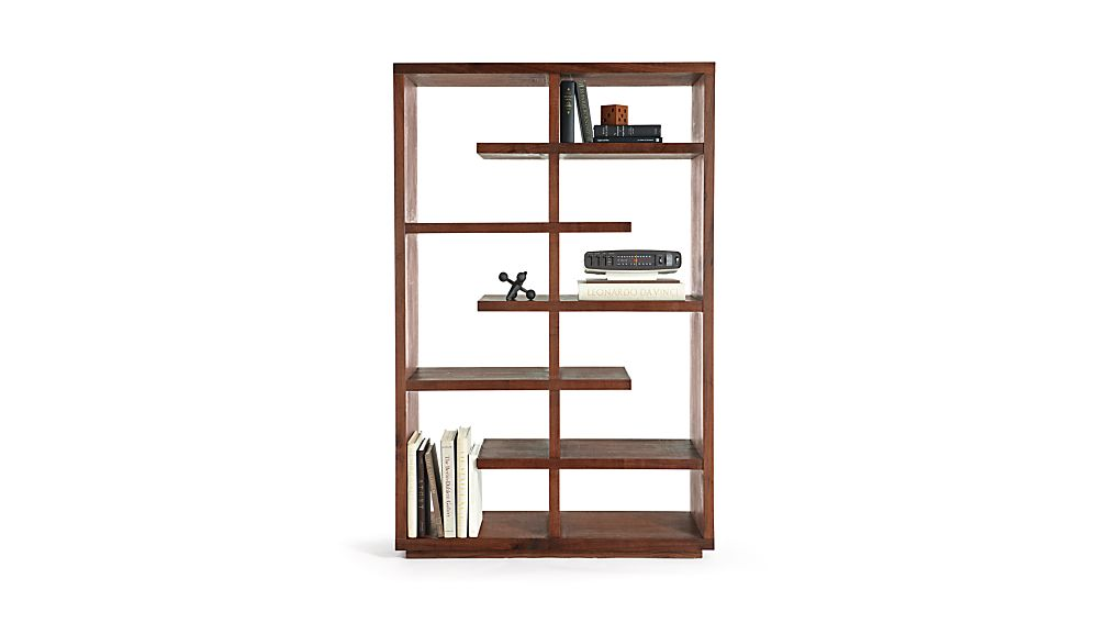 "Elevate Walnut 68"" Bookcase"