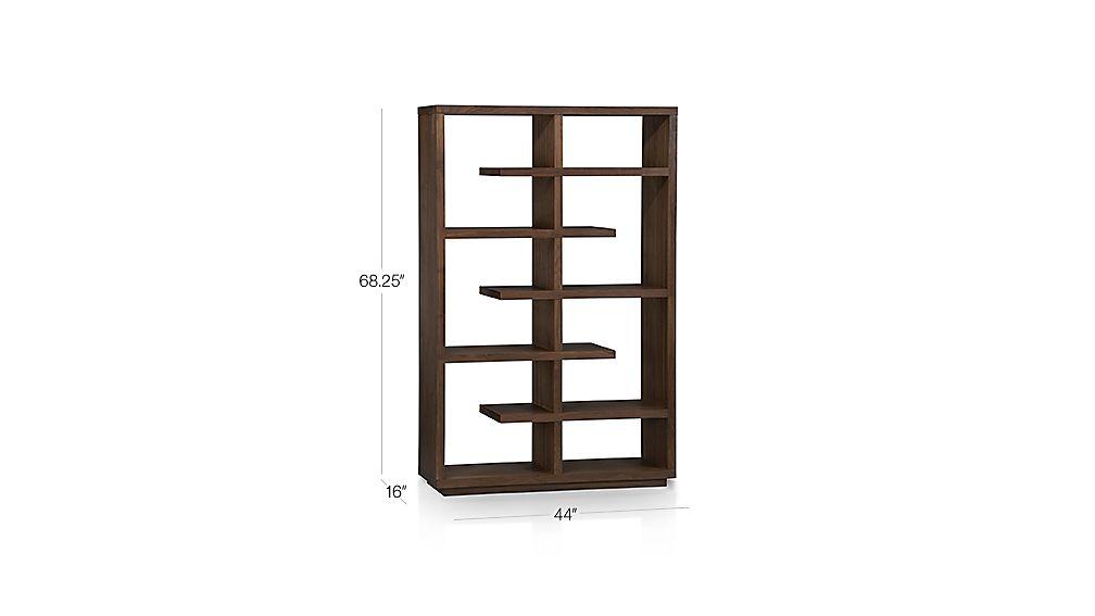 Elevate Walnut 68 Quot Bookcase Crate And Barrel