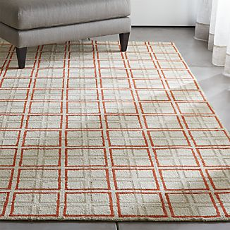 Elias Orange Wool Rug