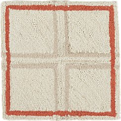 "Elias Orange Wool 12"" sq. Rug Swatch"