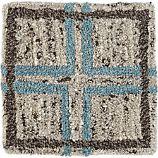"Elias Sky Blue Wool 12"" sq. Rug Swatch"