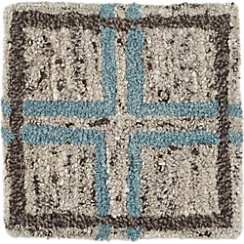 "Elias Sky Blue Wool 12"" sq. Rug Swatch"