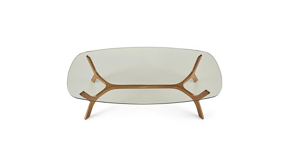 Elke Rectangular Glass Coffee Table