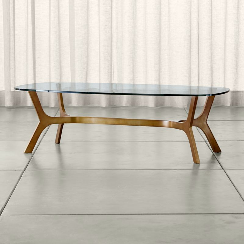 Elke Rectangular Glass Coffee Table Crate And Barrel