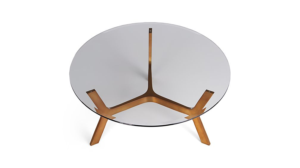 Elke Round Glass Coffee Table