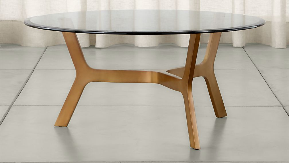 Elke Round Glass Coffee Table Crate And Barrel