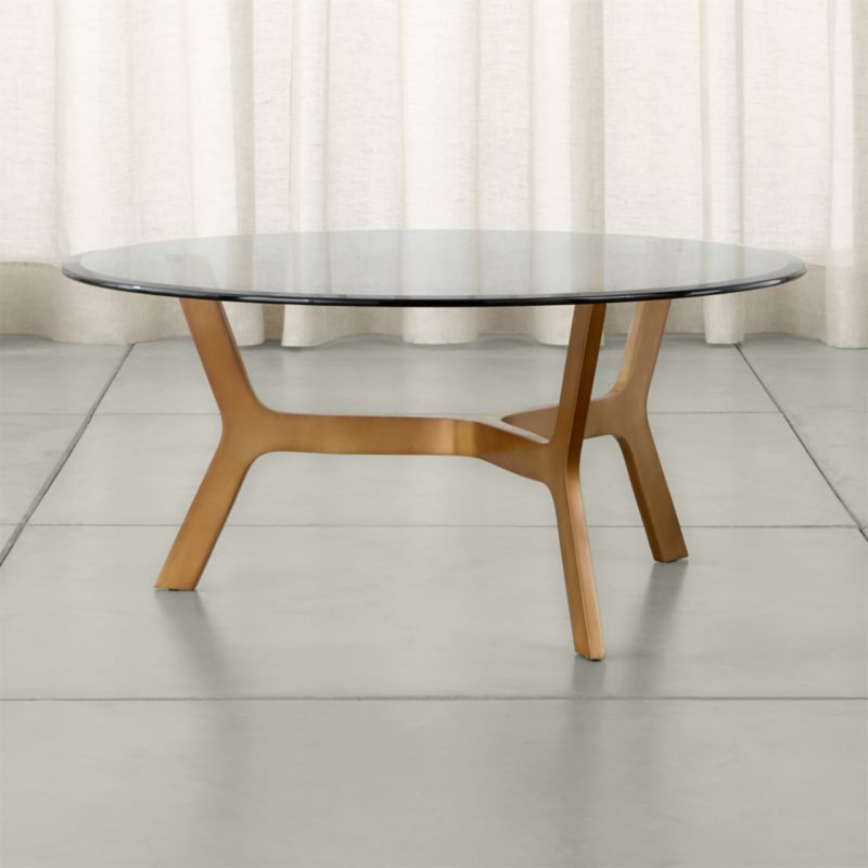 Elke Round Glass Coffee Table