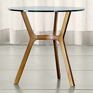 Elke Glass Side Table