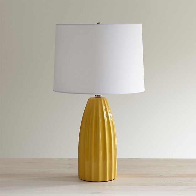 ella golden yellow table lamp crate and barrel. Black Bedroom Furniture Sets. Home Design Ideas