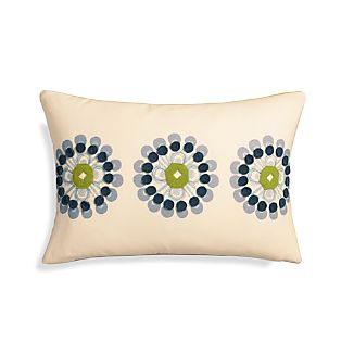 "Ella 20""x13"" Pillow with Down-Alternative Insert."