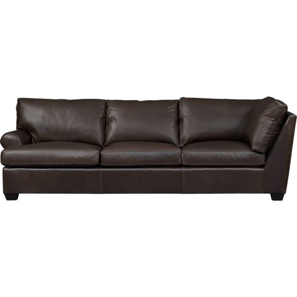 Ellis Leather Left Arm Corner Sofa