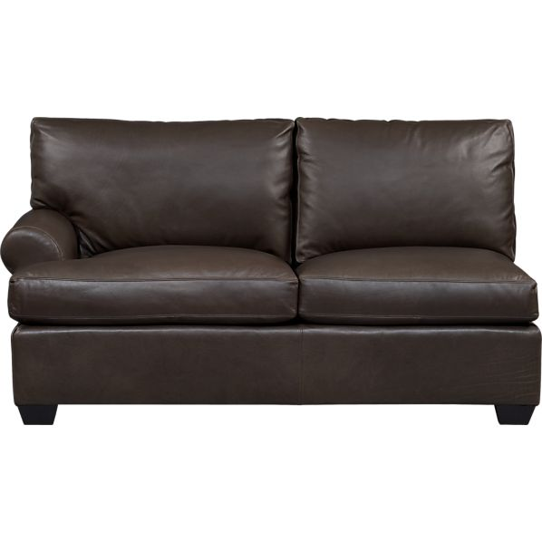 Ellis Leather Left Arm Loveseat