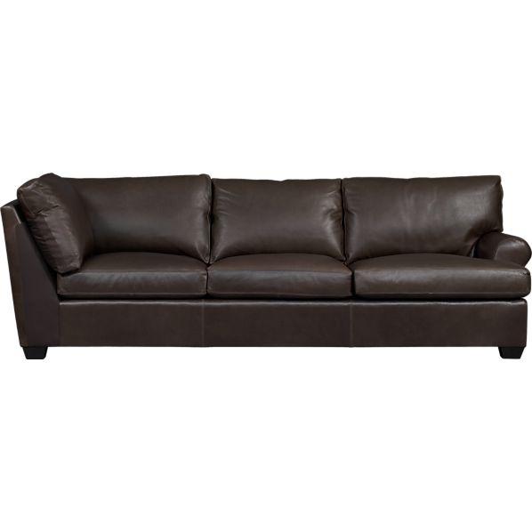 Ellis Leather Right Arm Corner Sofa