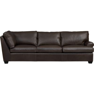 Ellis Leather Right Arm Corner Sofa