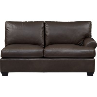 Ellis Leather Right Arm Loveseat