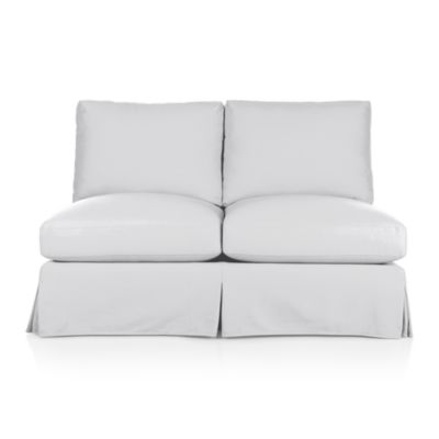 Ellyson Slipcovered Armless Loveseat