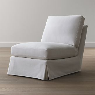 Ellyson Slipcovered Armless Chair