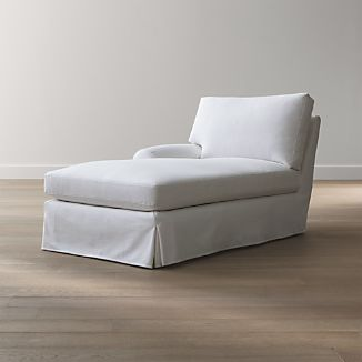 Ellyson Slipcovered Left Arm Chaise Lounge