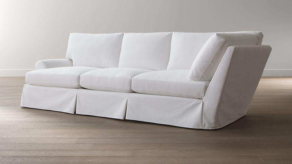 Ellyson Slipcovered Left Arm Corner Sofa