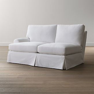 Ellyson Slipcovered Left Arm Loveseat