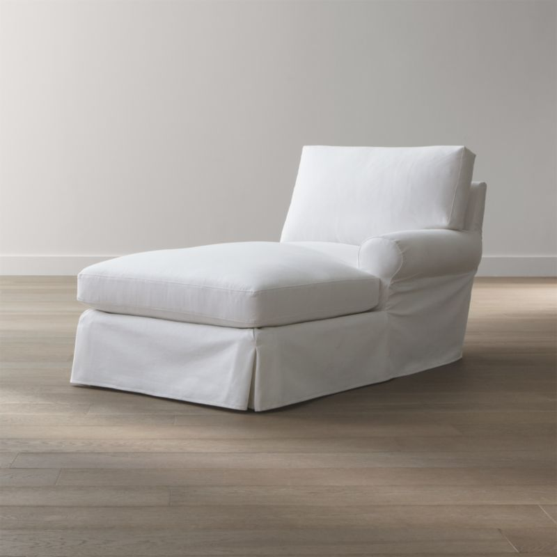 Ellyson Slipcovered Right Arm Chaise Lounge