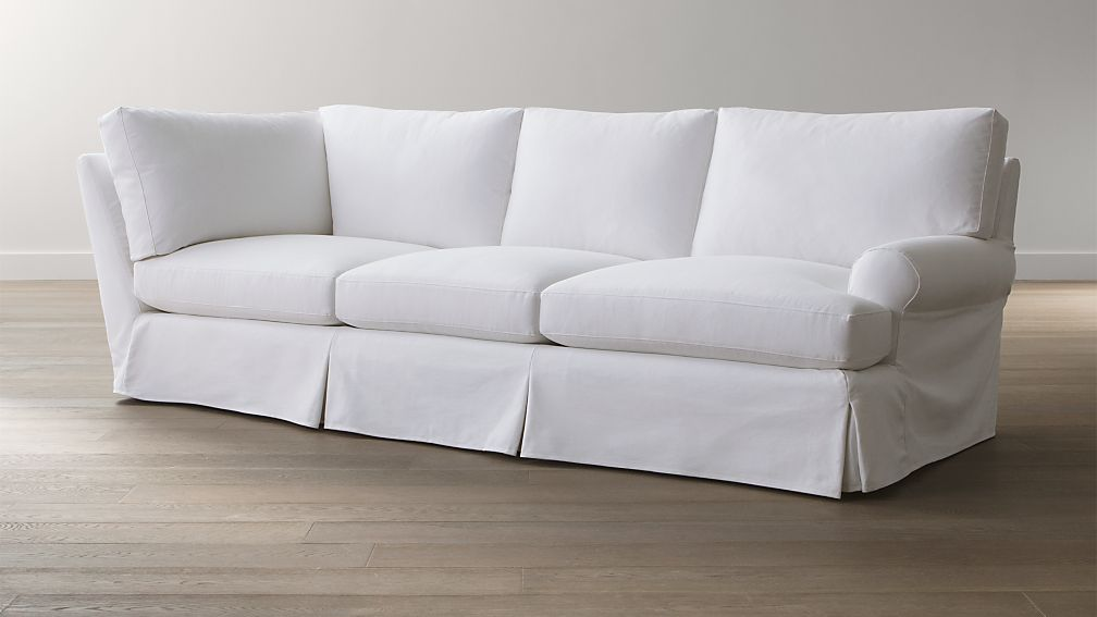 slipcover only for ellyson right arm corner sofa california optic