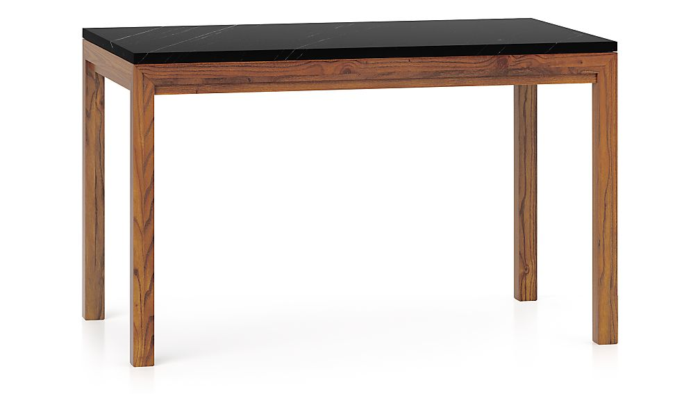 Parsons Black Marble TopElm Base 48x28 Dining Table  : parsons black marble top elm base 48x28 dining table from www.crateandbarrel.com size 1008 x 567 jpeg 32kB