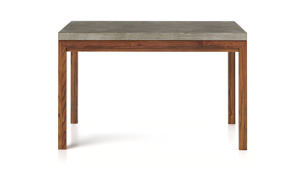 Crate And Barrel Concrete Dining Table Concrete Top/ Elm Base 72x42 Dining Table | Crate and Barrel