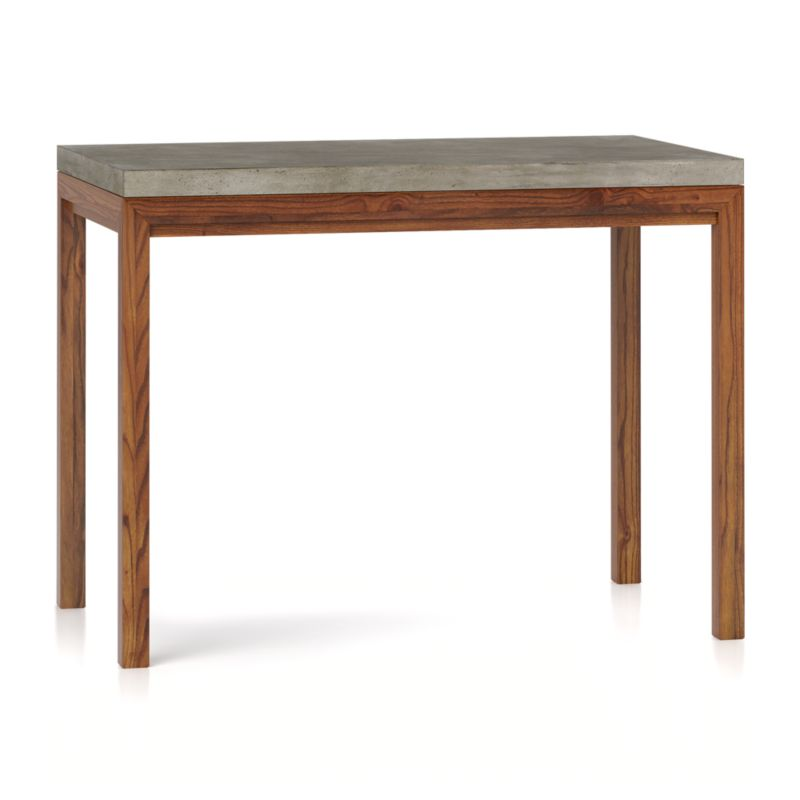 Concrete Top/ Elm Base 48x28 High Dining Table