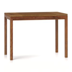 Teak Top/ Elm Base 48x28 High Dining Table