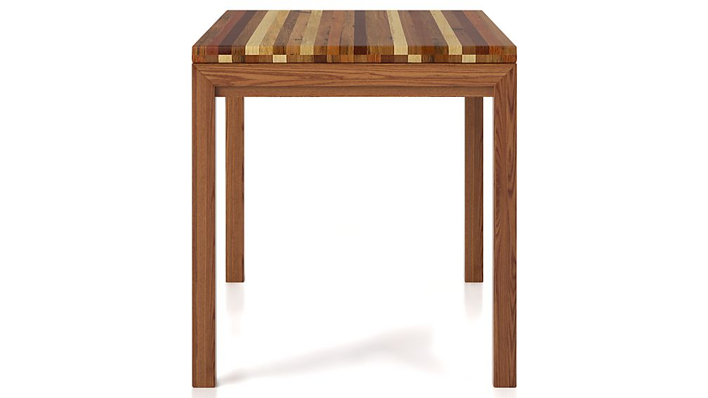 Reclaimed Wood Top Elm Base 48x28 High Dining Table Crate And Barrel