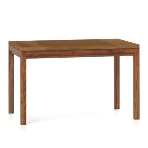 Teak Top/ Elm Base 48x28 Dining Table