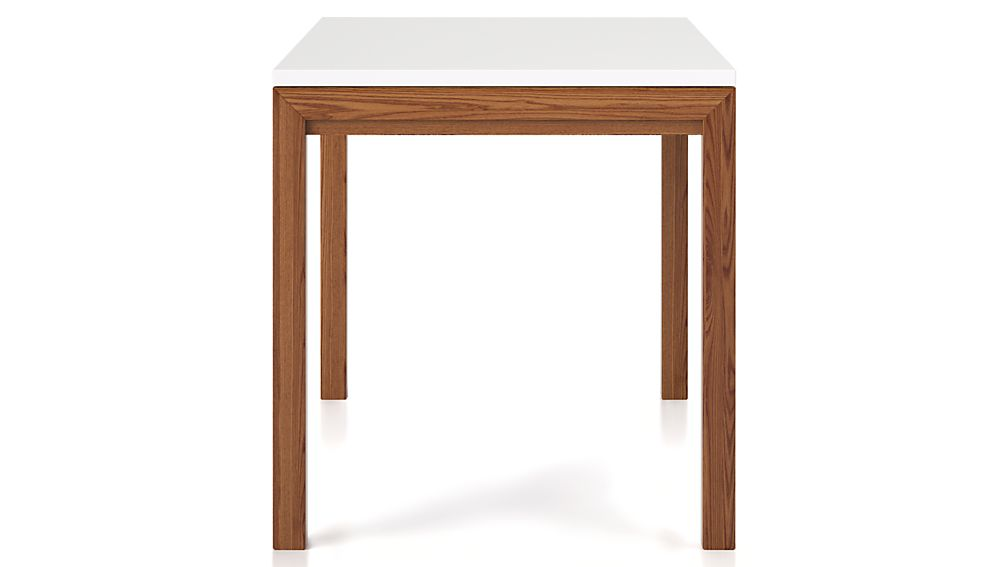 White Top/ Elm Base 72x42 Dining Table