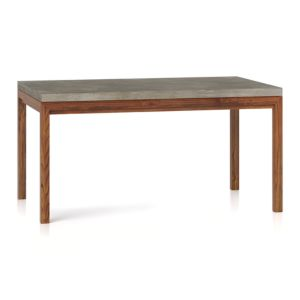 Concrete Top/ Elm Base 60x36 Dining Table