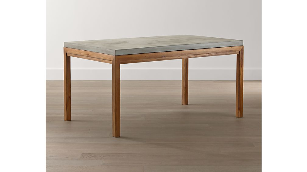 Concrete Top/ Elm Base 48x28 Dining Table